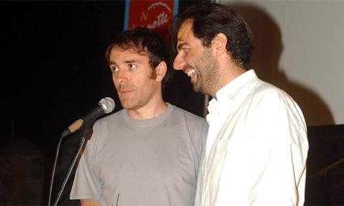 Valerio Mastrandrea e Neri Marcorè Festival del cinema di Tavolara 2005